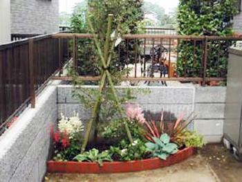 日が当たらなくても花壇を作りたいという願望が叶いました。今から夏が楽しみです。