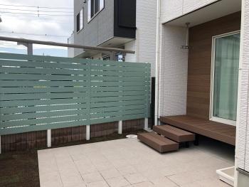 設置を迷っていた目隠しフェンスが大正解でした!